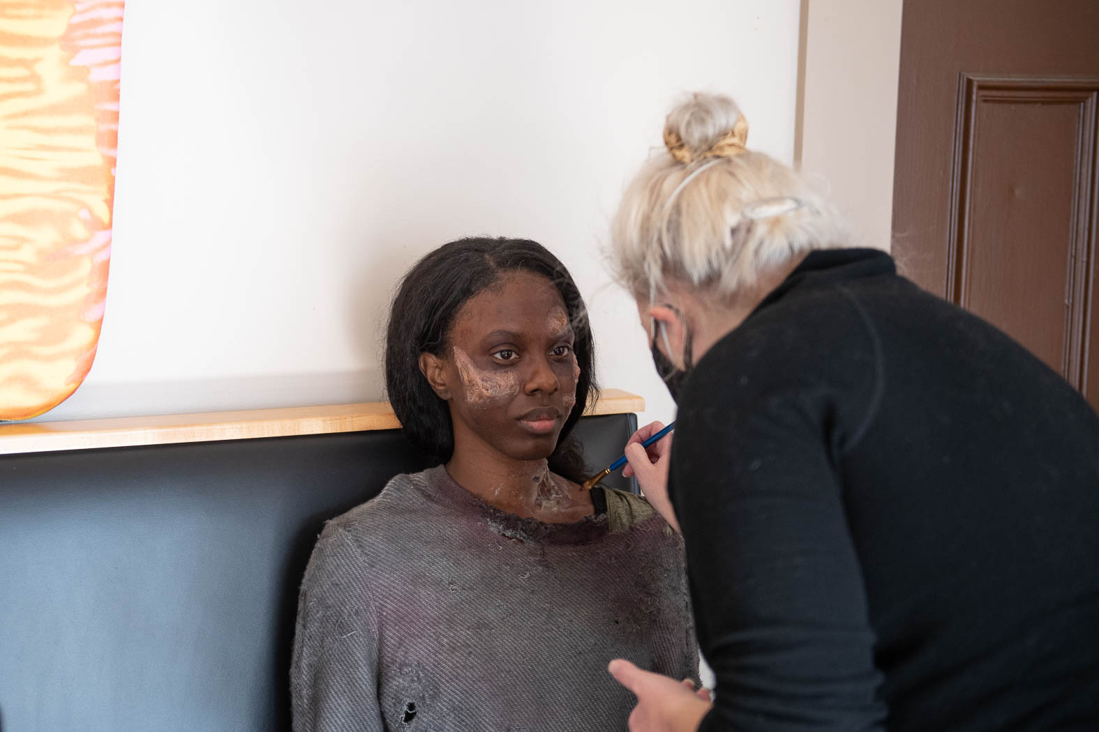 Zombie with Make-Up Artist